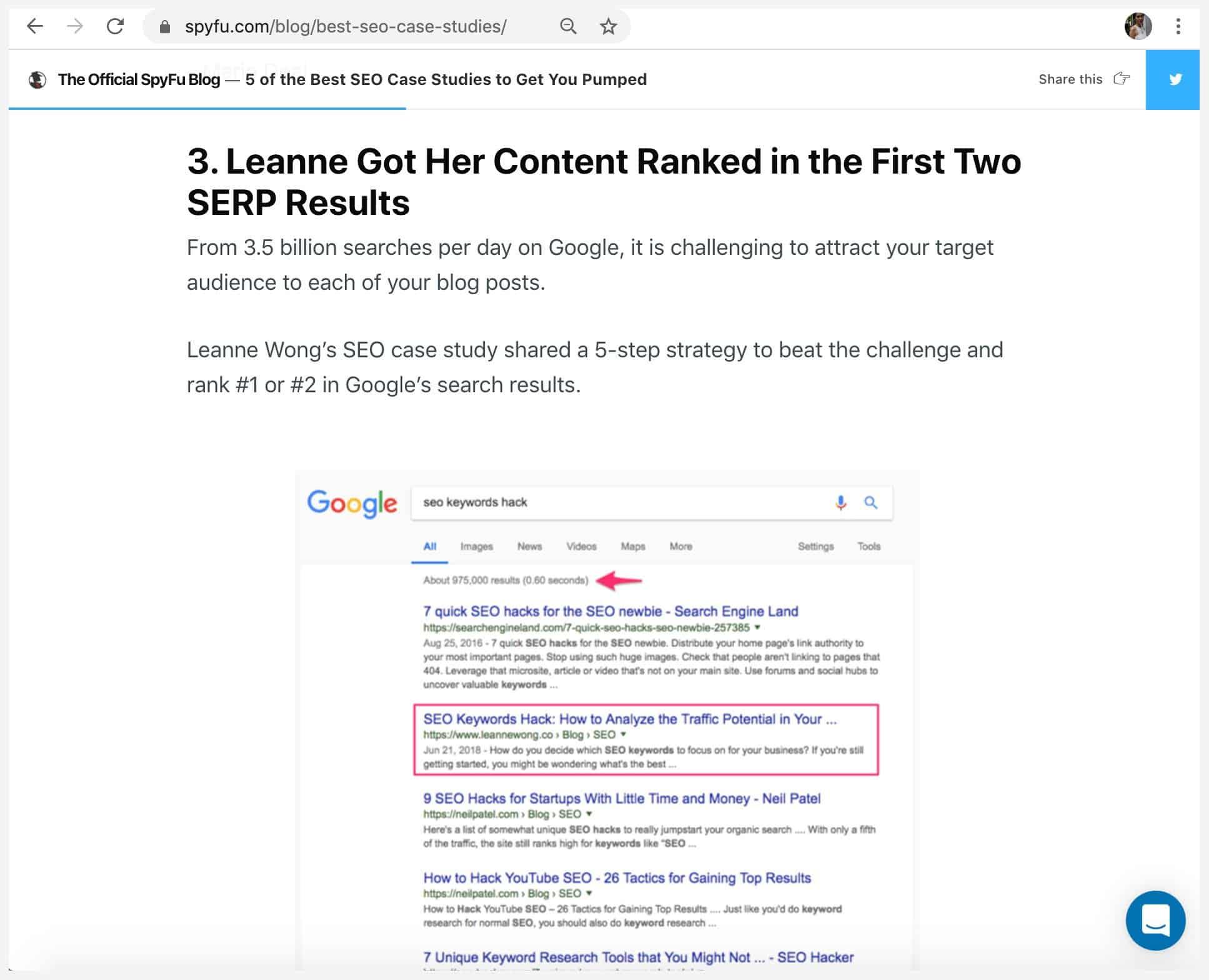 case study seo backlink