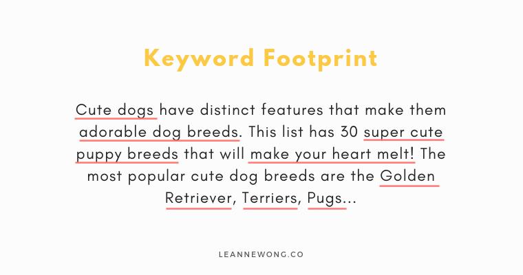 keyword footprint seo for beginners-LeanneWongCo