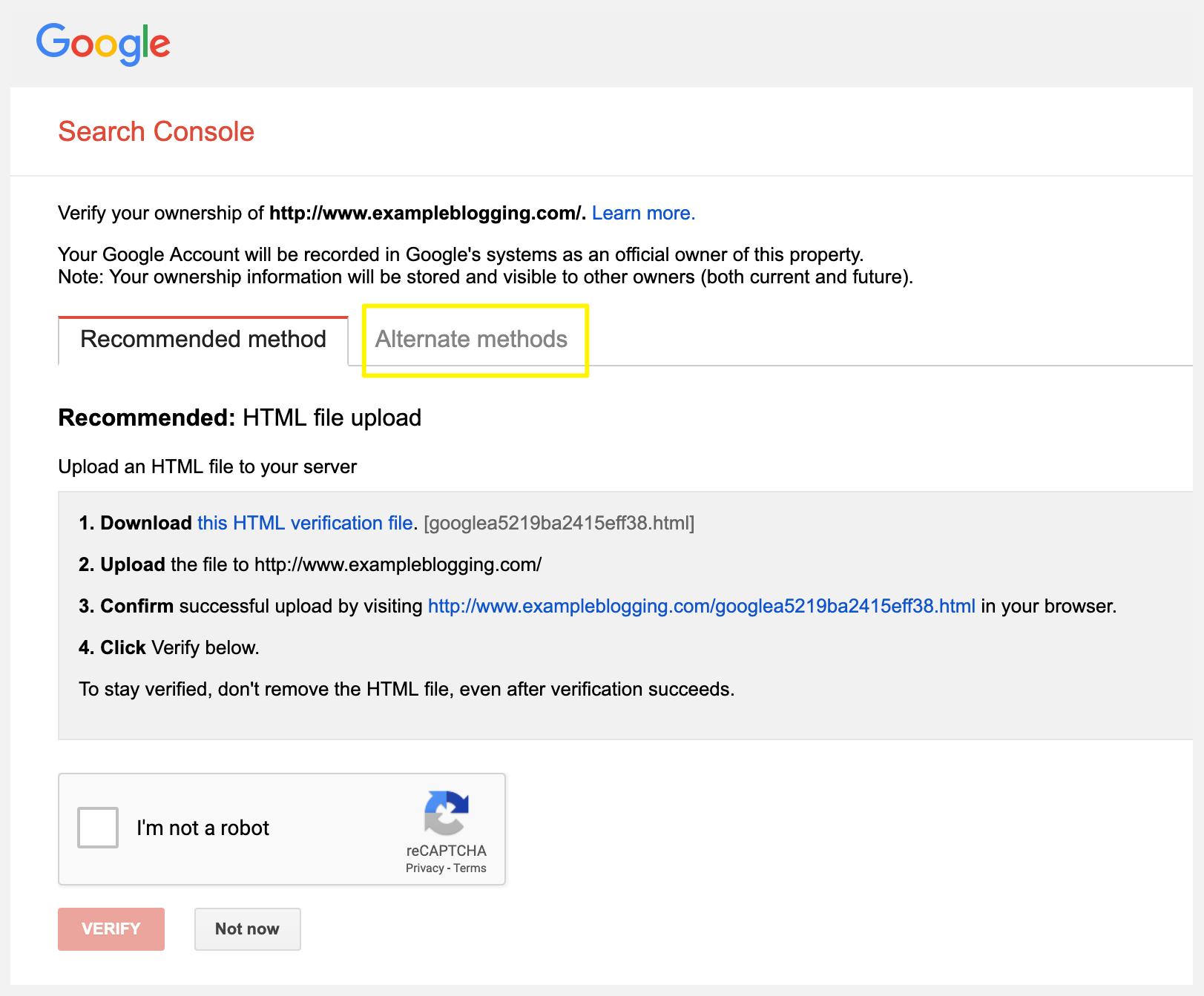 google-search-console-verify-seo