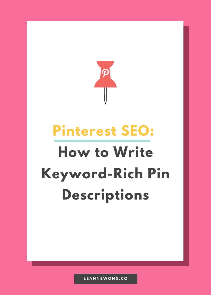 pin it pinterest keyword rich descriptions